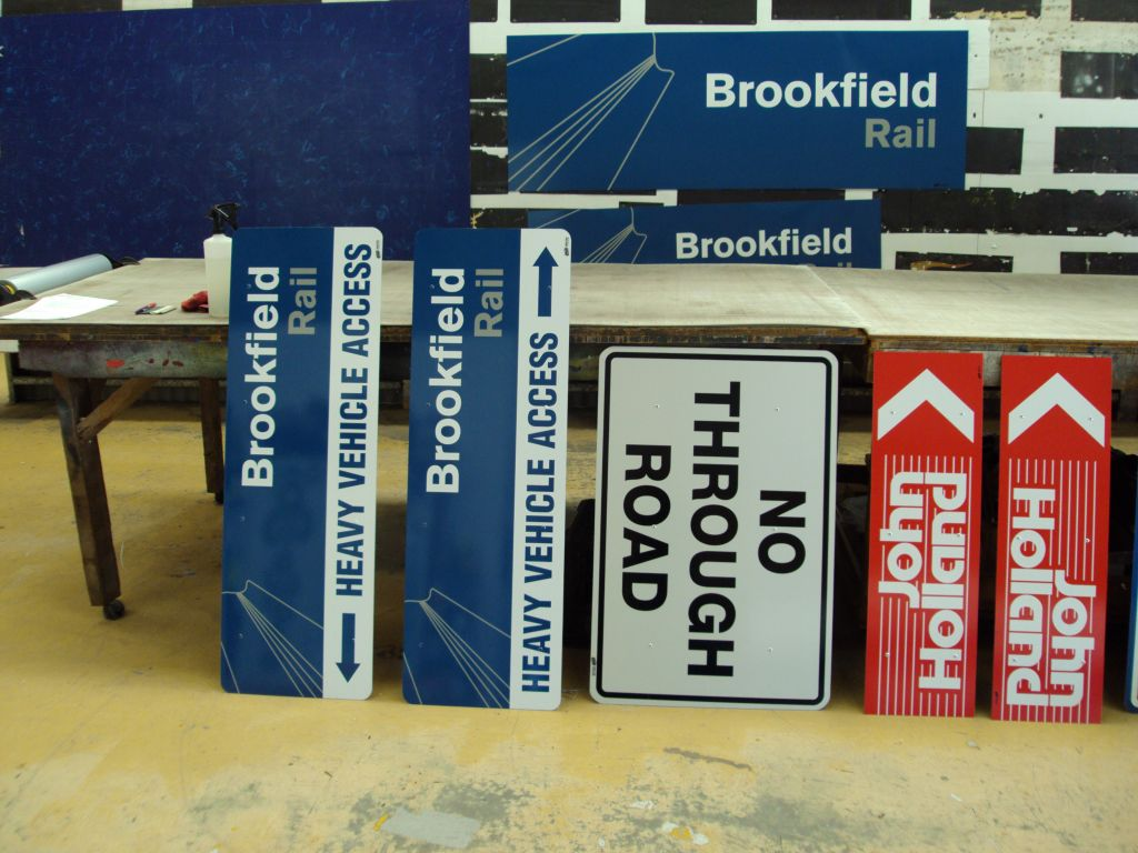 Brookfield Rail Facility Signs