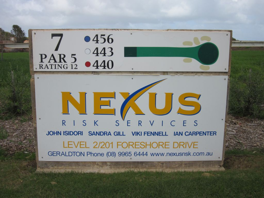 Nexus Sponsor Sign at Geraldton Golf Club