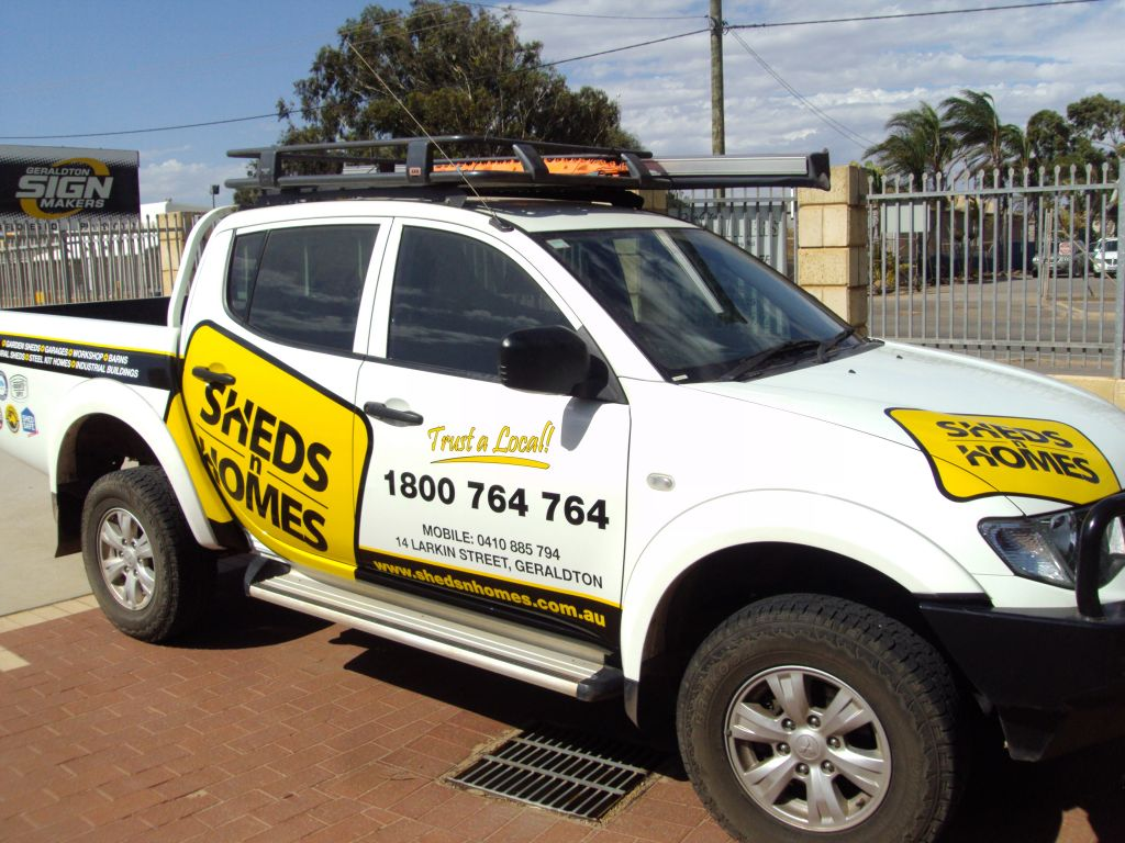 Sheds n Homes Car wrap