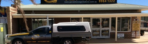 Gerladton Signmakers office and signwriting workshop